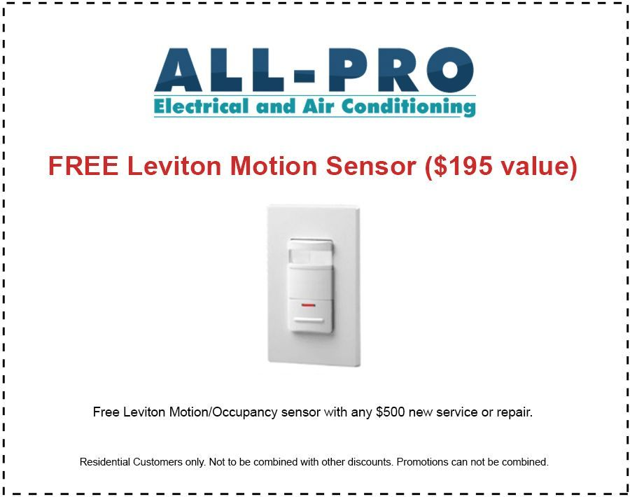 Air Conditioning Boca Raton- All Pro free motion sensor